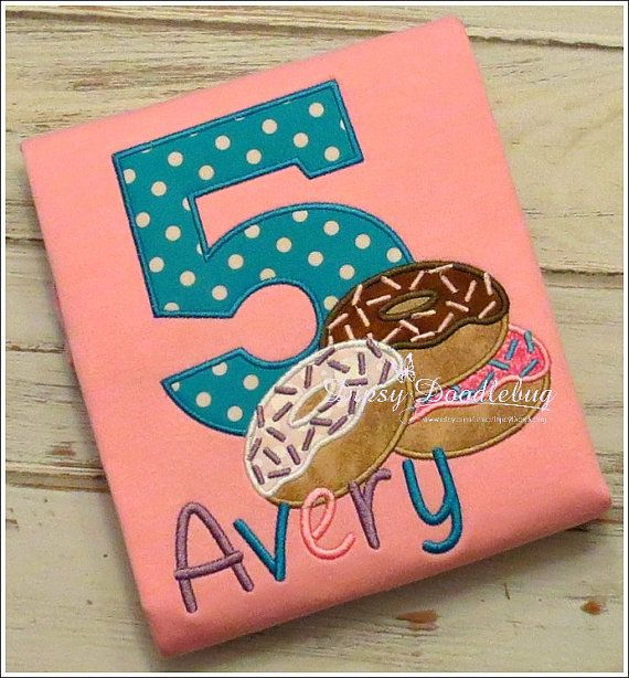 Personalized Birthday  Pajamas and Donuts for by DipsyDoodlebug, $38.00
