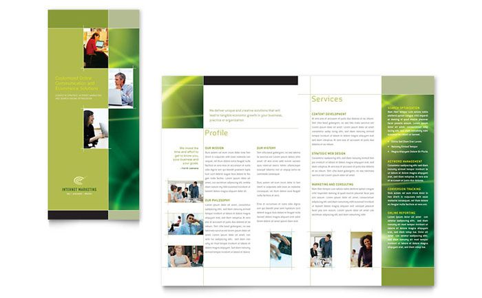 Internet Marketing Tri Fold Brochure Design Template by - pamphlet layout