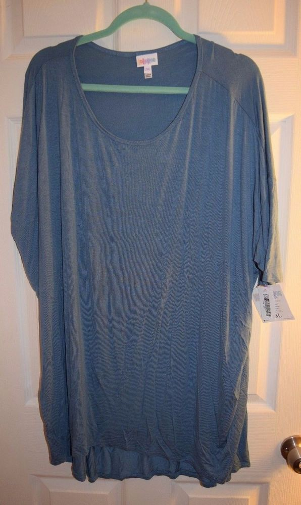 400ddb4051fe6 LuLaRoe Irma Tunic Size 2XL Solid Steel Blue Grey  Lularoe  Blouse  Casual