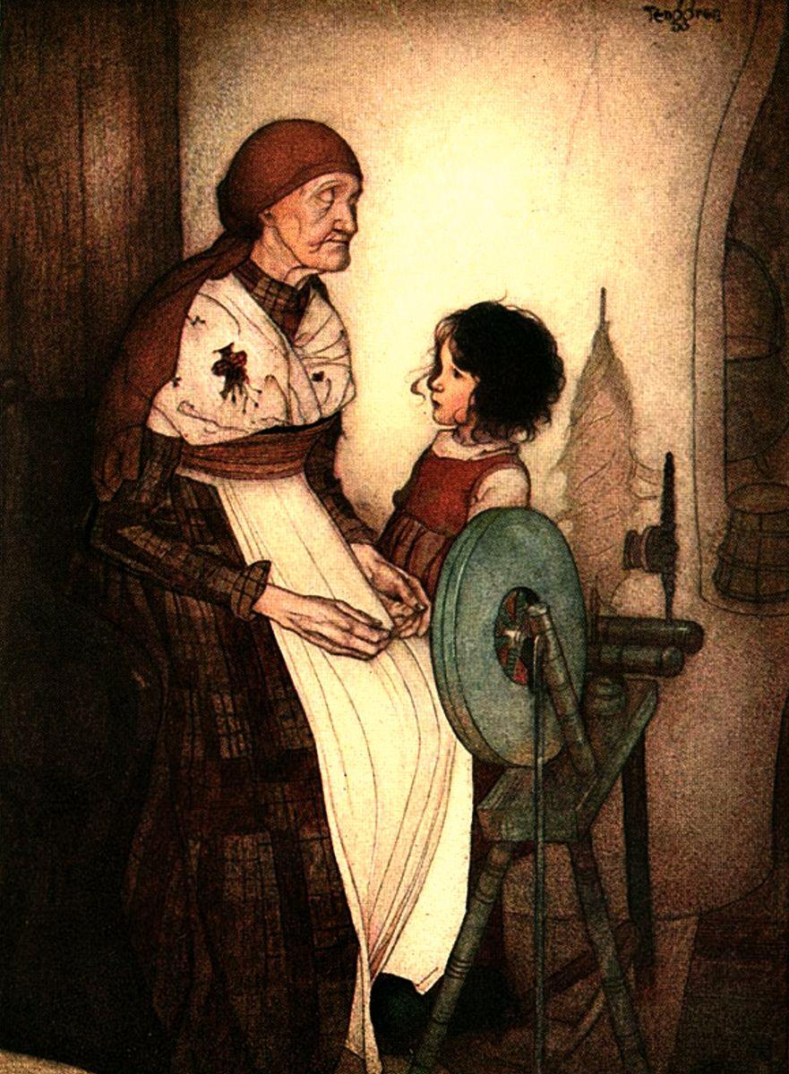 Art by Gustaf Tenggren from the book HEIDI.