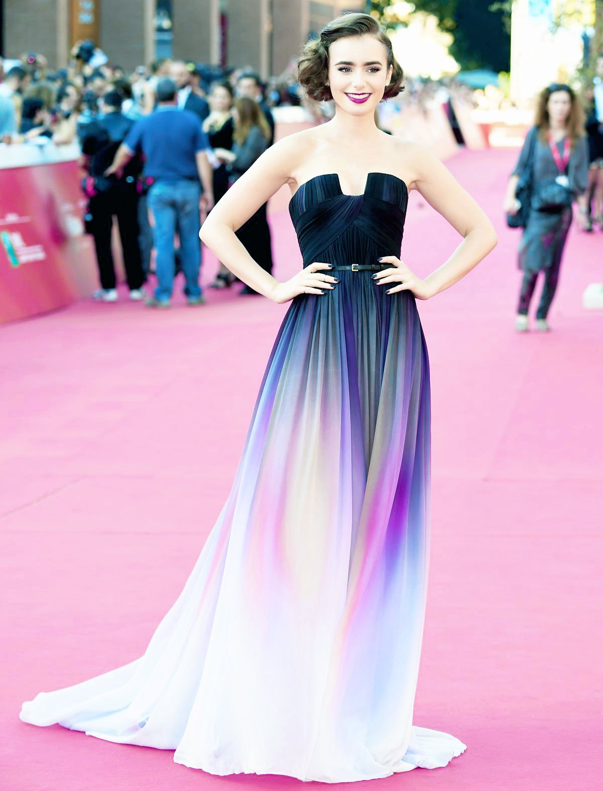 AGGRESSIVELY COMPOSING AN OPERA FOR THIS DRESS] - lily collins in ...