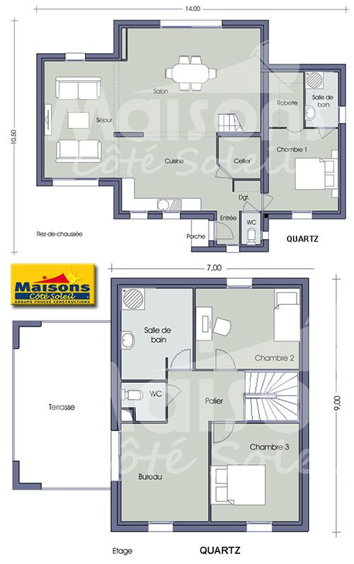 Cellier-buanderie HOME Pinterest House - plan maison etage 100m2