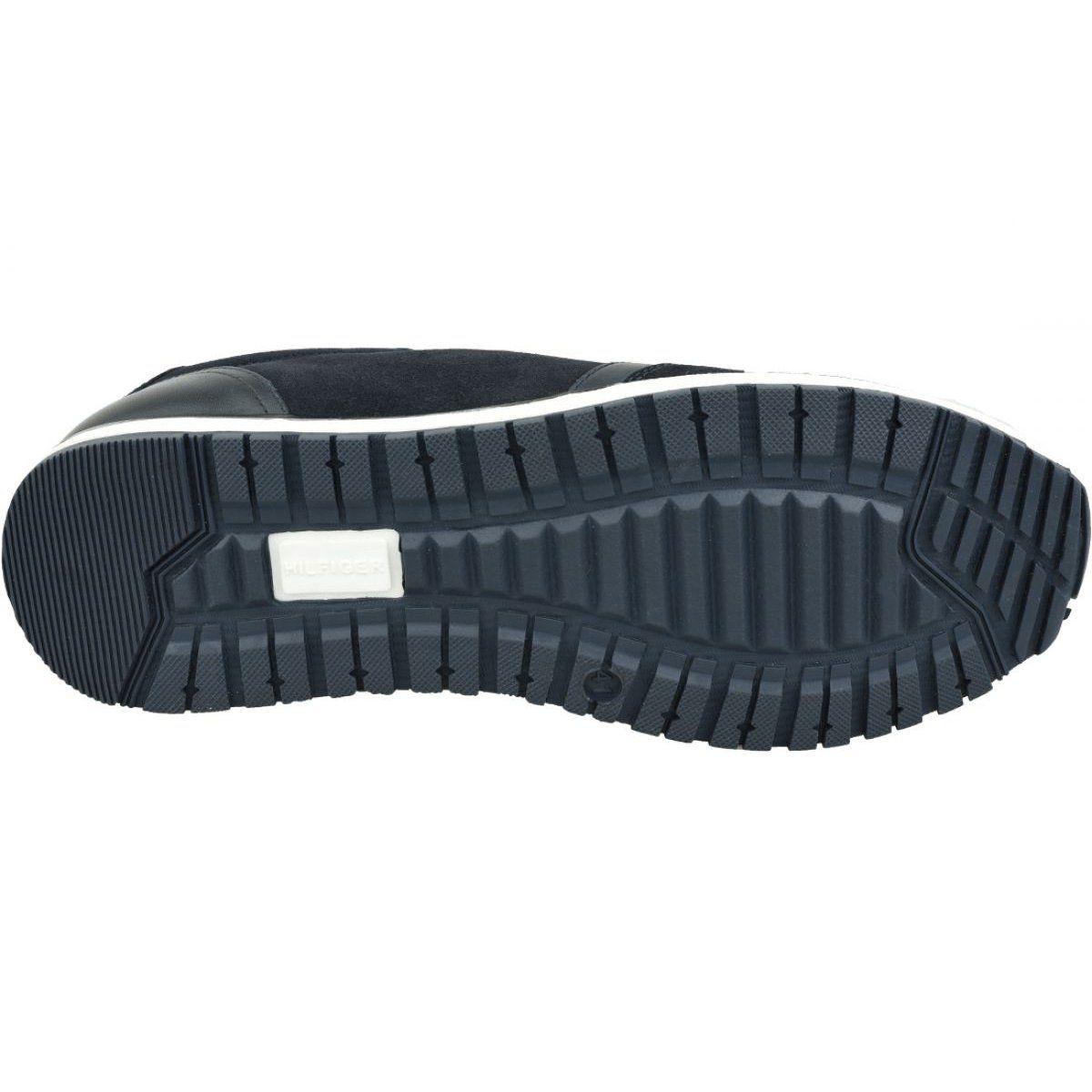 Buty Tommy Hilfiger Premium Suede Runner M Fm0fm02551 Cki Granatowe Tommy Hilfiger Platform Sneakers Hilfiger