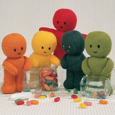 Jelly Babies Knitted Jean Greenhowe Patterns Knitted Dolls
