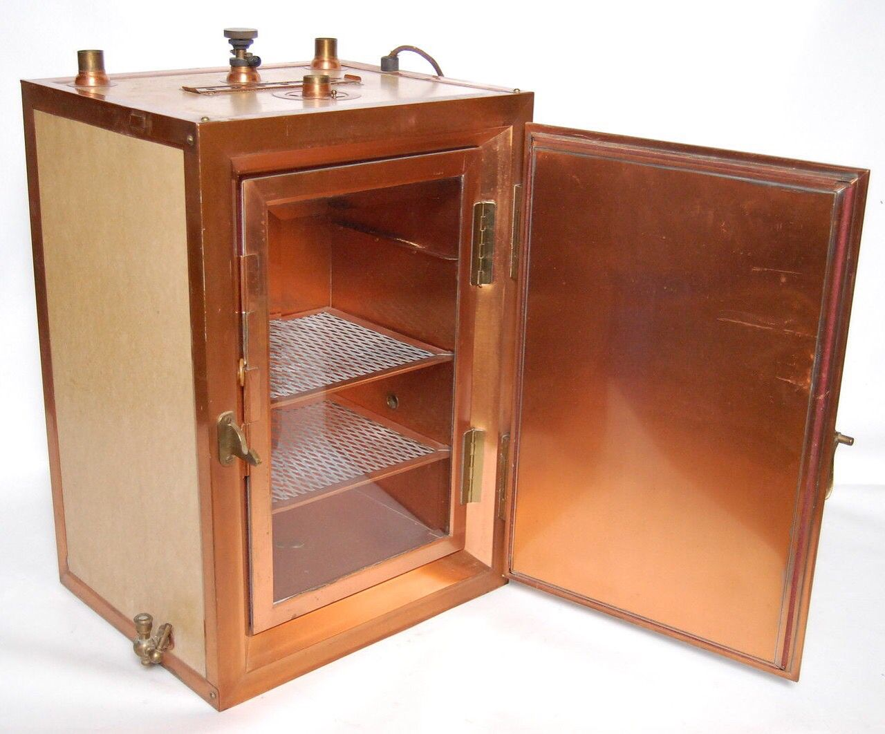 Antique copper steam sterilizer medical dental instrument