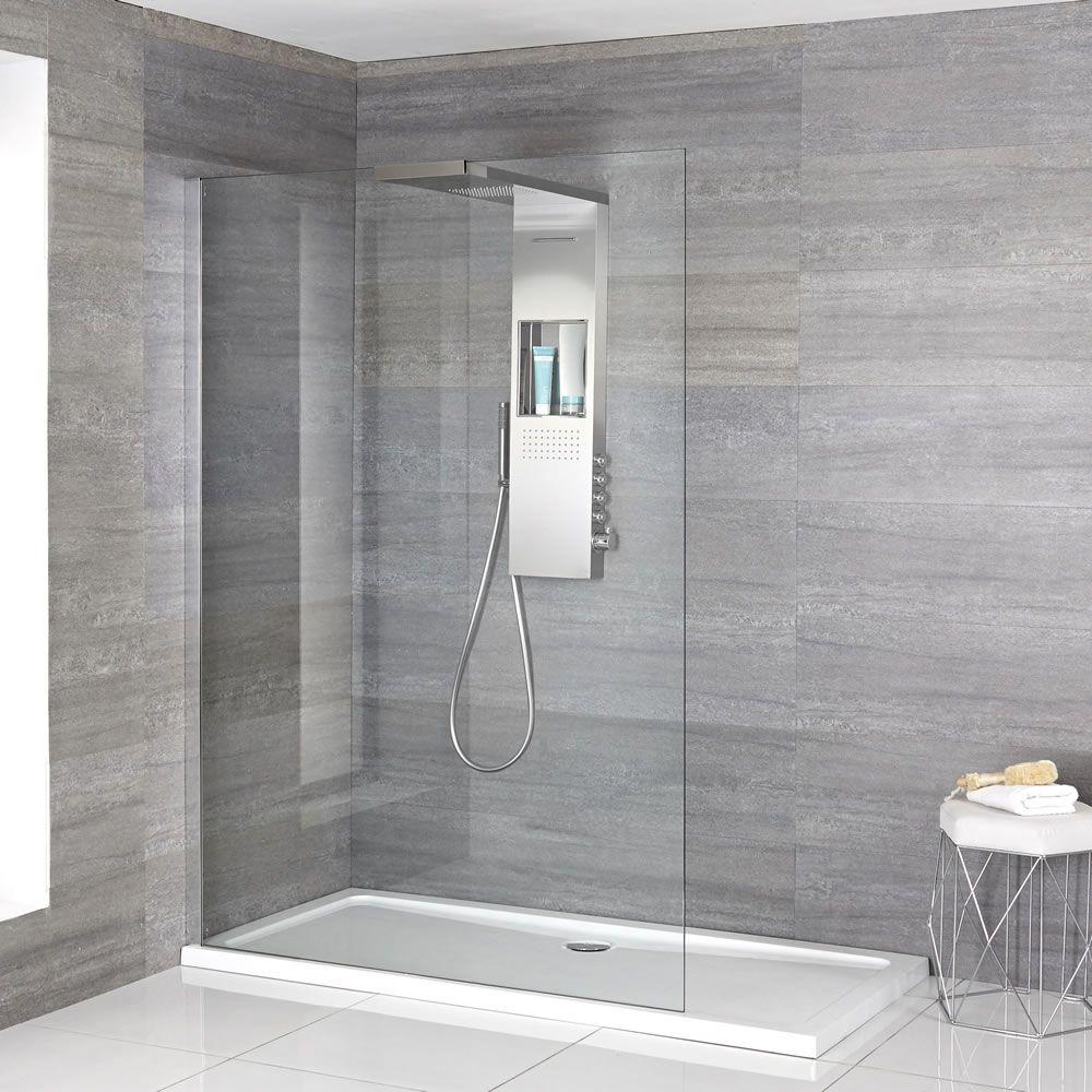 Milano Vaso Complete Walk In Shower Enclosure With Slimline Tray
