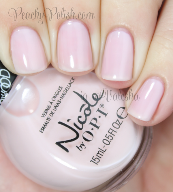 """Love My Pups"" is a pale, pale pink sheer. 3 coats. Nicole by OPI: Carrie Underwood Collection Swatches and Review"