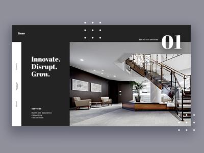 Financial Advisory Company Homepage Homepage Design Interior