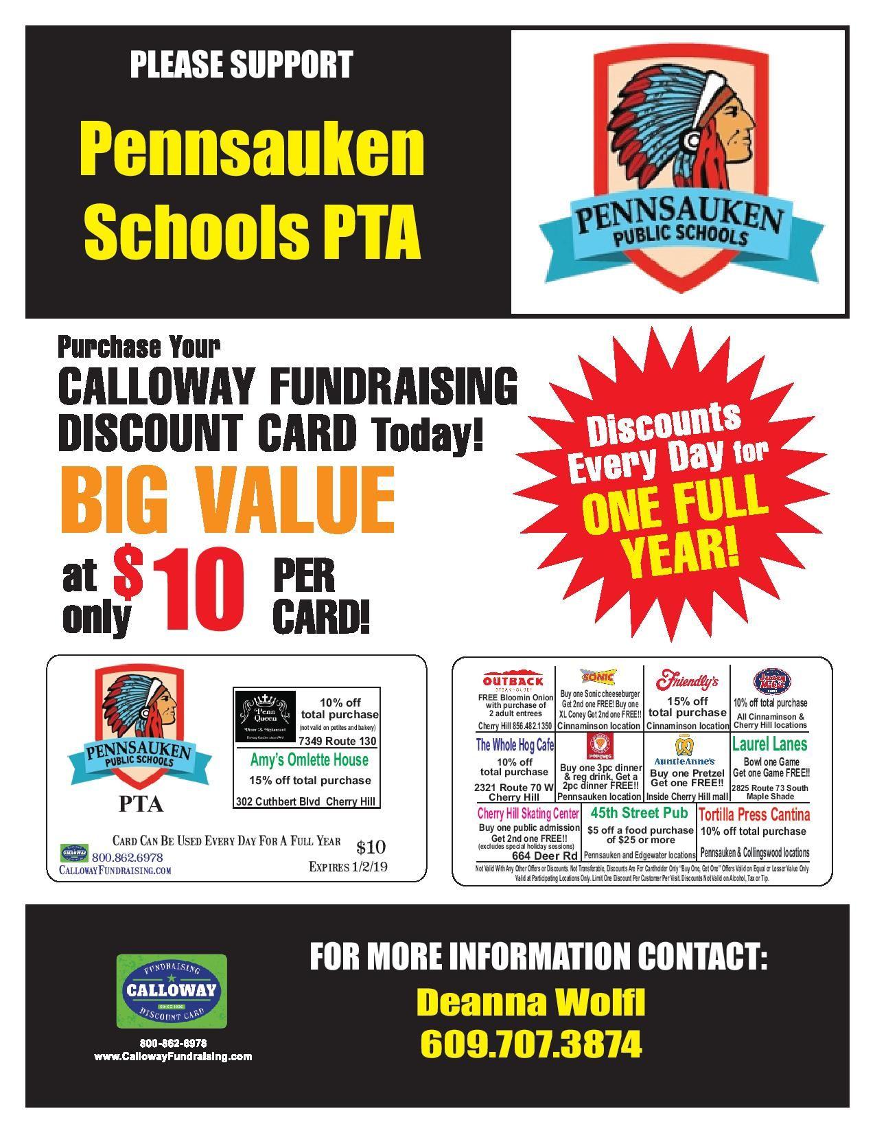 Please support Pennsauken School PTA by purchasing our Calloway ...