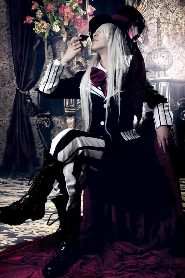 Cosplay Of The Undertaker From Black Butler