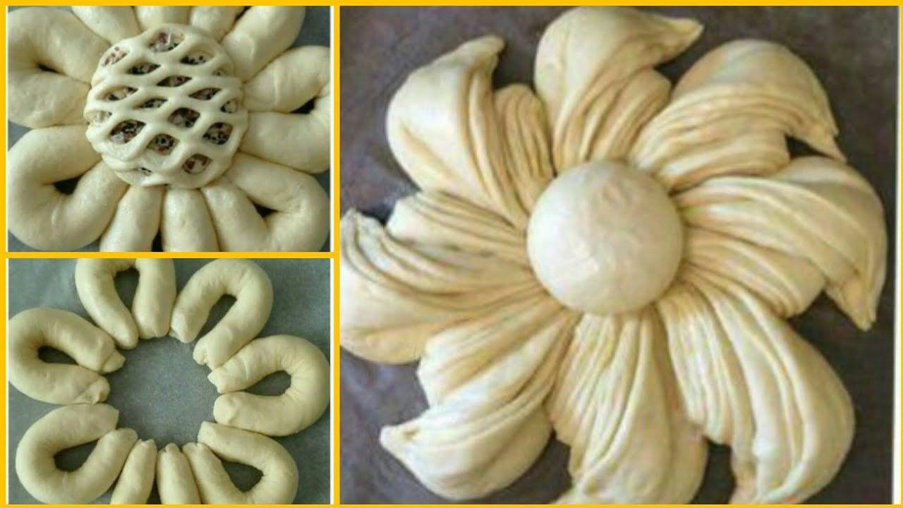 معجنات ابداعية وفطائر محشية اشكال احترافية مع فريق العمل Amazing And Perfect Pastry Youtube Pastry Garlic Vegetables