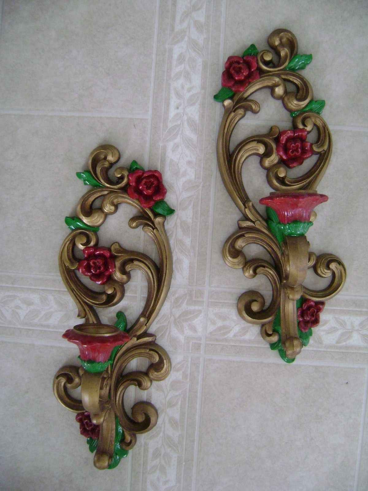 Details about Burwood lattice/wicker Wall hanging taper ... on Vintage Wall Sconce Candle Holder Decorating Ideas id=59348