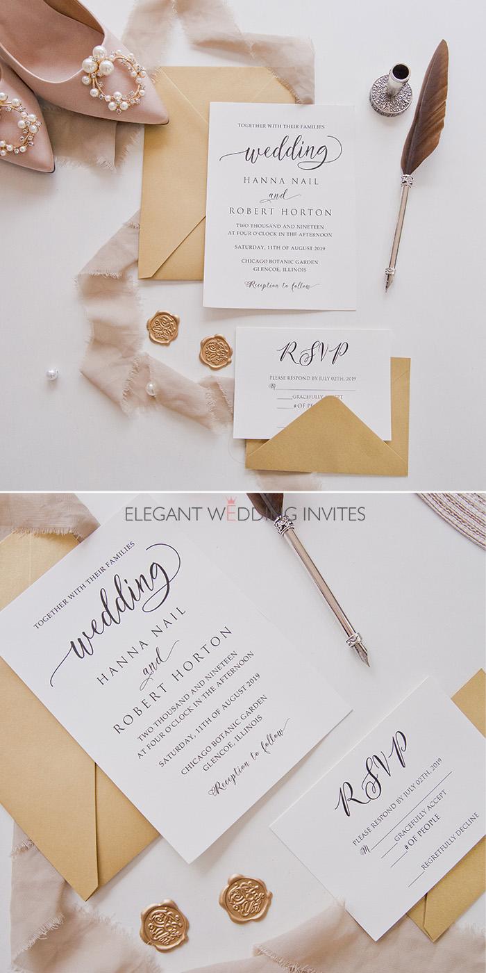 Wedding Day Soiree Simple Fun Calligraphy Wedding Invites Ewi444 Affordable Wedding Invitations Pocket Wedding Invitations Cheap Invitations