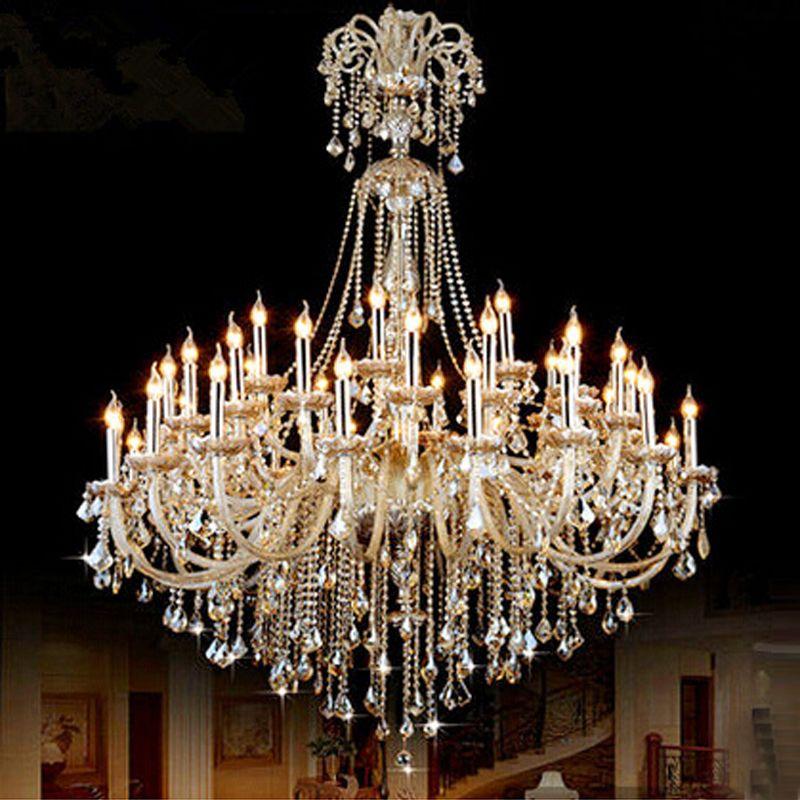 Chandelier crystal lamps modern crystal chandelier led big hotel crystal chandeliers luxury light entrance hall chandelier