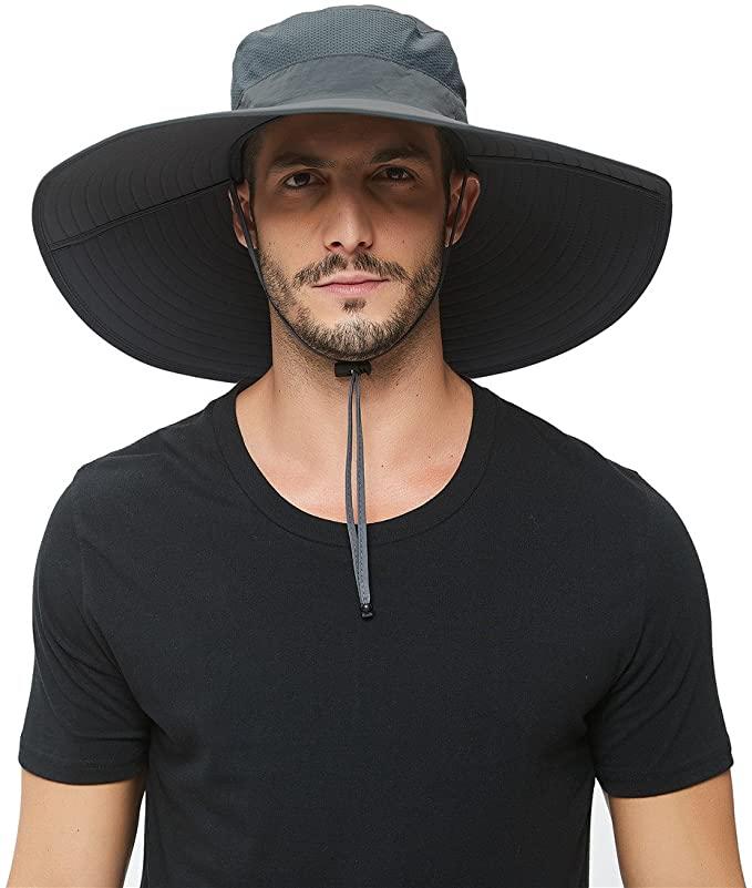 Amazon Com Super Wide Brim Sun Hat Upf 50 Protection Waterproof Bucket Hat For Fishing Hiking Camping Boating Bre In 2021 Wide Brim Sun Hat Sun Hats Mens Sun Hats