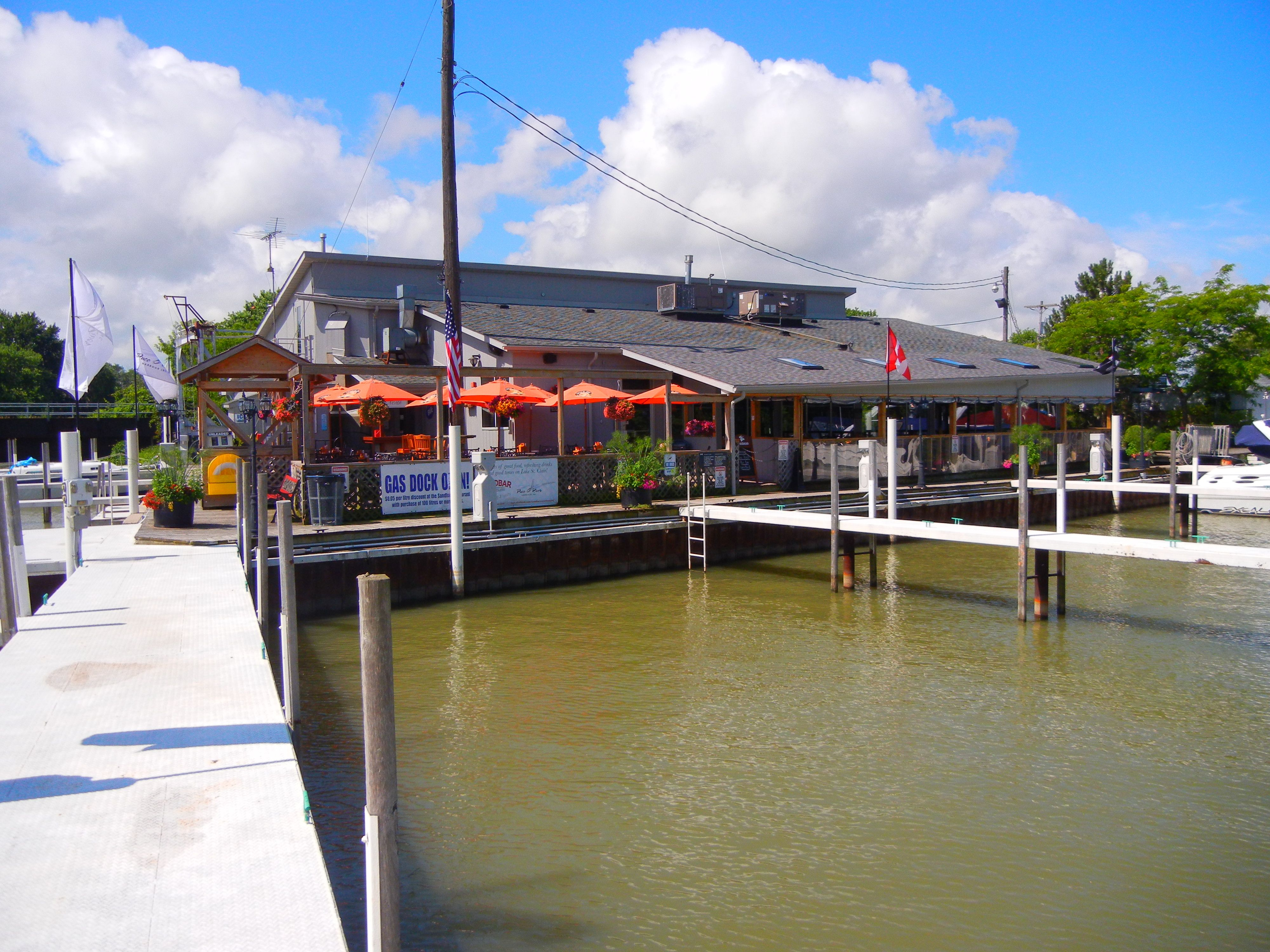 Puce River Marina And Sandbar Restaurant Located On Lake St Clair Near Windsor Ontario Asking Price Is 1 850 000 Facility Has 100 Slips A Beautiful
