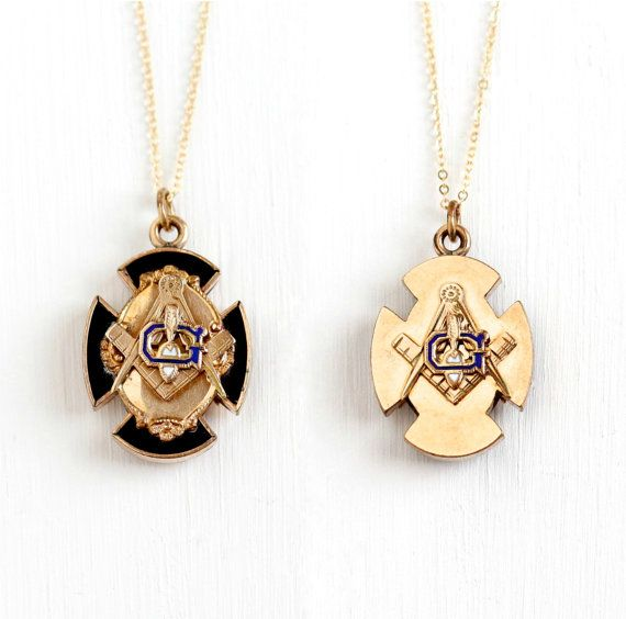 Antique 10k rose gold filled double sided masonic pendant necklace antique 10k rose gold filled double sided masonic pendant necklace victorian black enamel mason maltese cross fraternal fob charm jewelry aloadofball Gallery