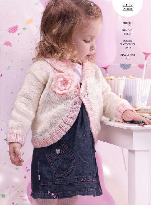 Crochet y Dos agujas: Tejiendo para la princesita: bolero dos agujas