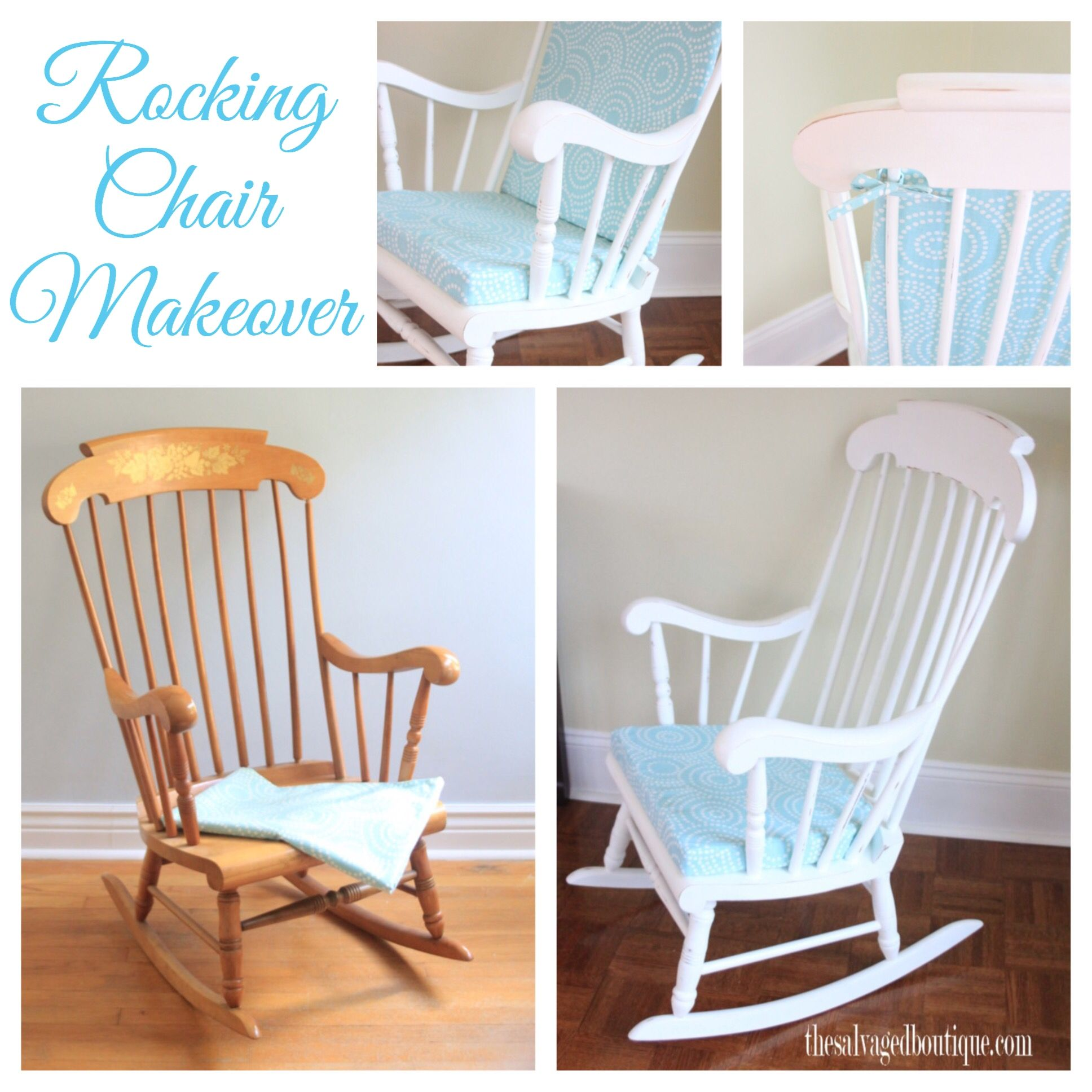 vintage rocking chair makeover for a baby nursery annie sloan chalk paint by the salvaged. Black Bedroom Furniture Sets. Home Design Ideas