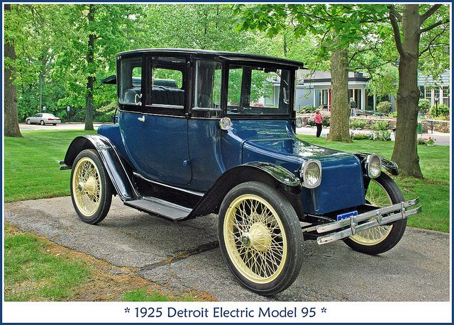 1925 Detroit Electric Electric Cars Detroit Cars Antique Cars