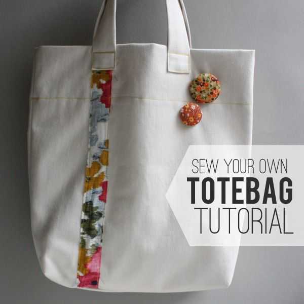 How to sew Totebag. Easy step by step tutorial.