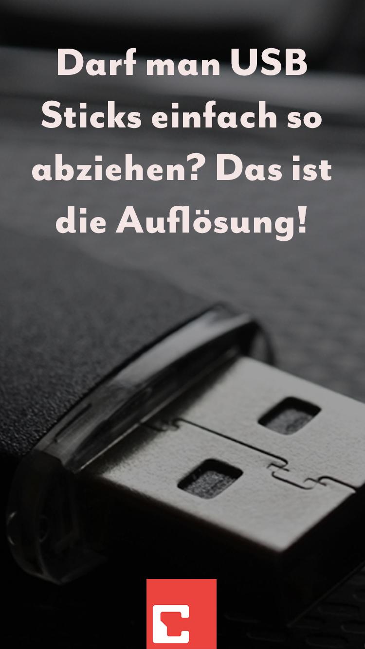 USB Stick sicher entfernen Warum ist das nötig? in 2020