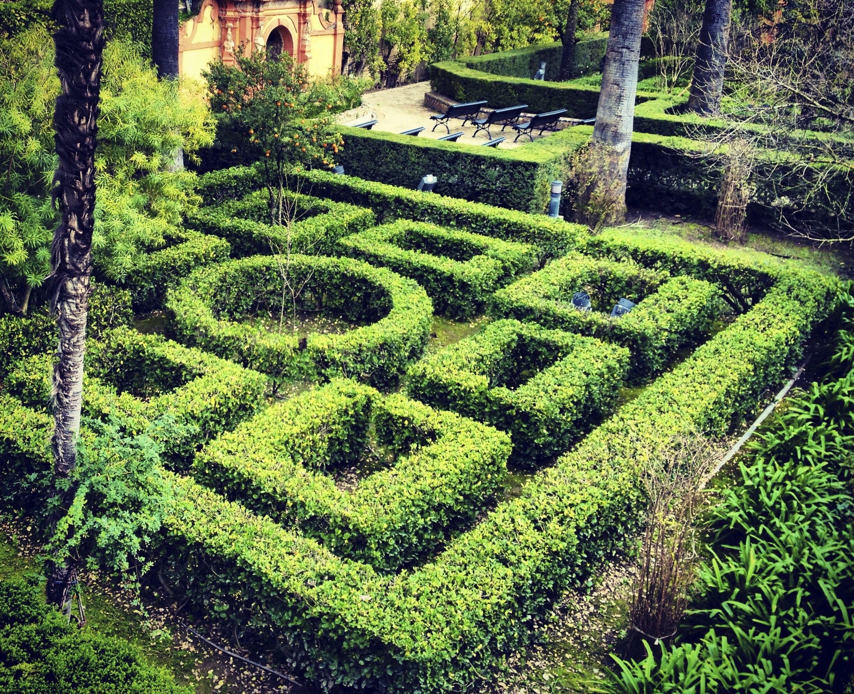 Un Laberinto Sonado En Los Jardines De Los Reales Alcazares De Sevilla Sevilla Espana Alcazar De Sevilla Laberintos