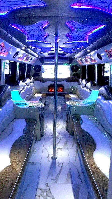 I Don T Love The Pole But It Is Pretty Party Bus Limo Limousine Transportation Birthday Prom Quince Bachelor Party Bus Limo Party Limousine Interior