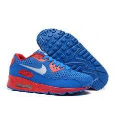 la moitié a3a56 a6527 Nike air max 90 homme tissage saphir bleu rouge blanc Pas ...