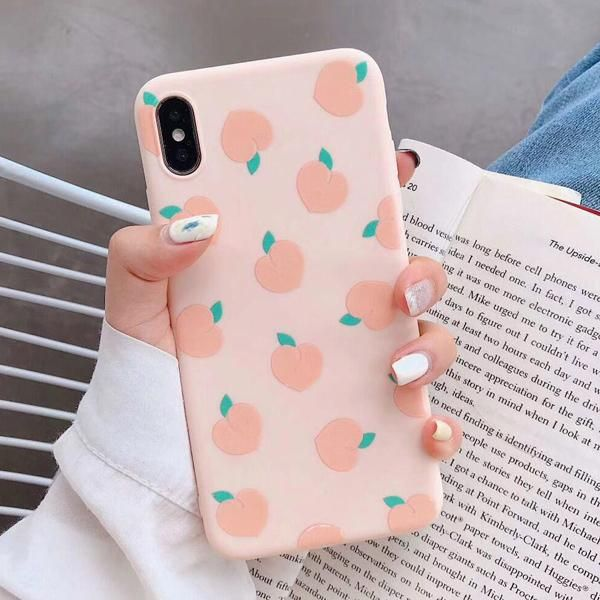 LACK Summer Fruits avocado peach Cases For iphone XR Cute Letter Phone Cases For iphone XS Max 6 6S 7 8 Plus Soft TPU Back Cover