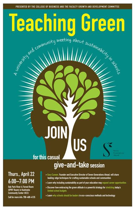 Sustainability Event Poster For Concordia University Chicago