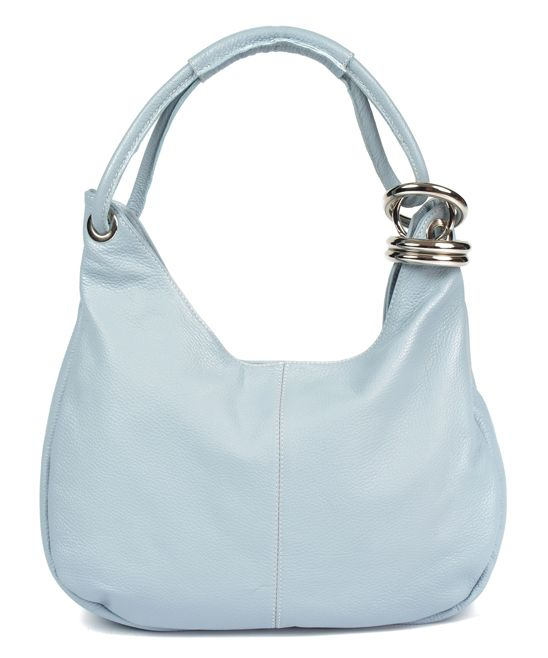 Heavenly Ring-Accent Leather Hobo