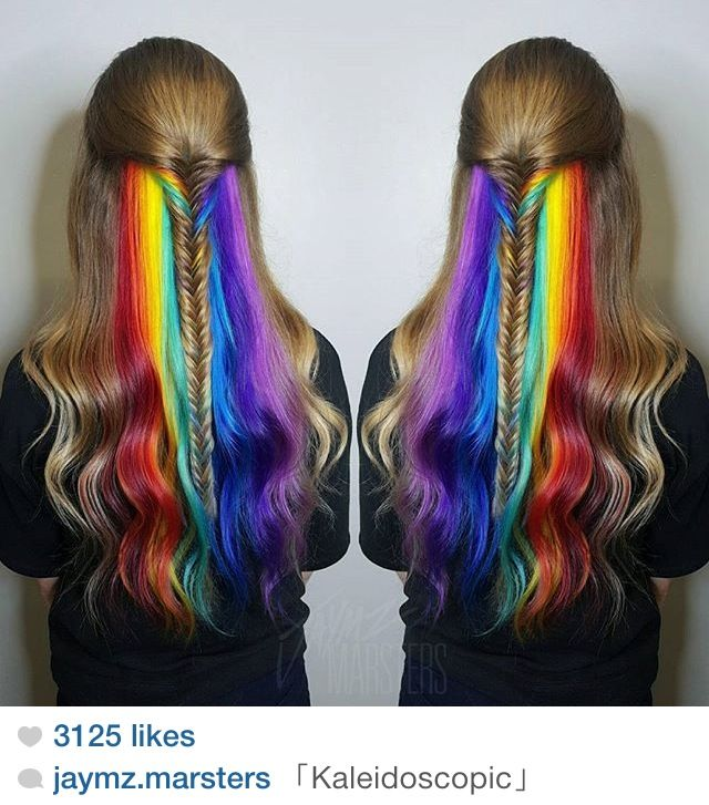 Kaleidoscopic Rainbow Peekaboo Cut Colour Candy Pinterest
