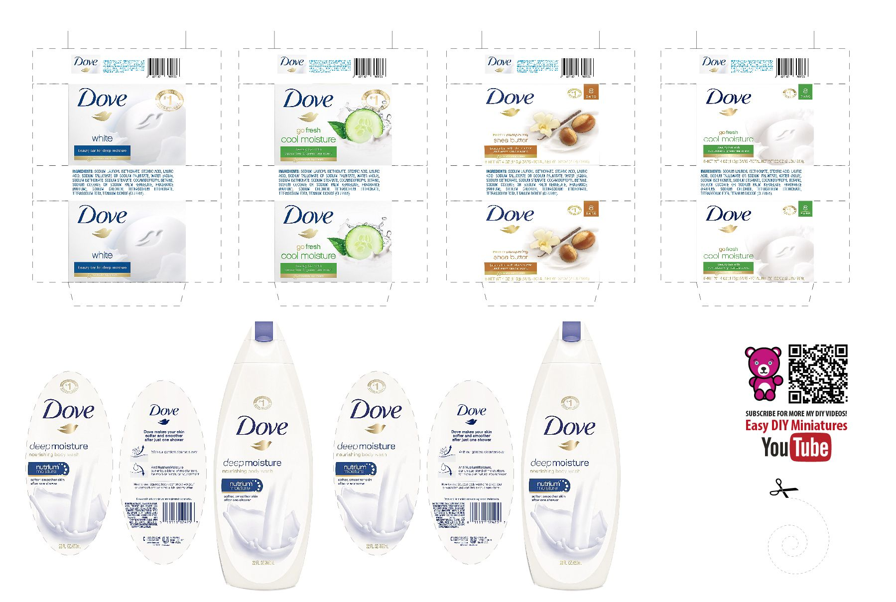Dove soap printables | Miniture things, Miniature diy ...