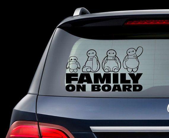 Big hero car decal big hero family sticker disney baymax decal for macbook laptop big hero 6 on board sign wall window