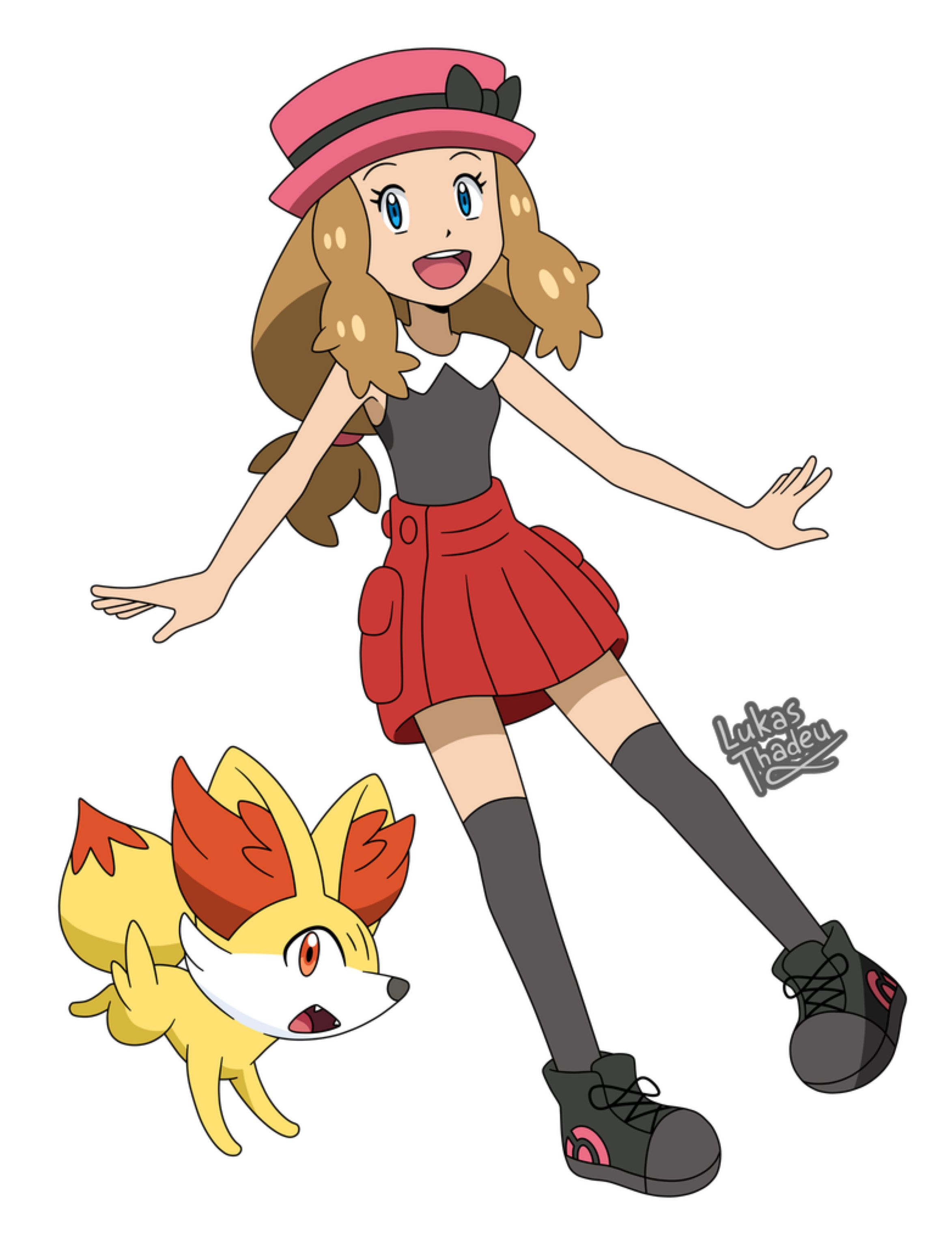 Pokemon anime Serena (Sun and Moon style) by