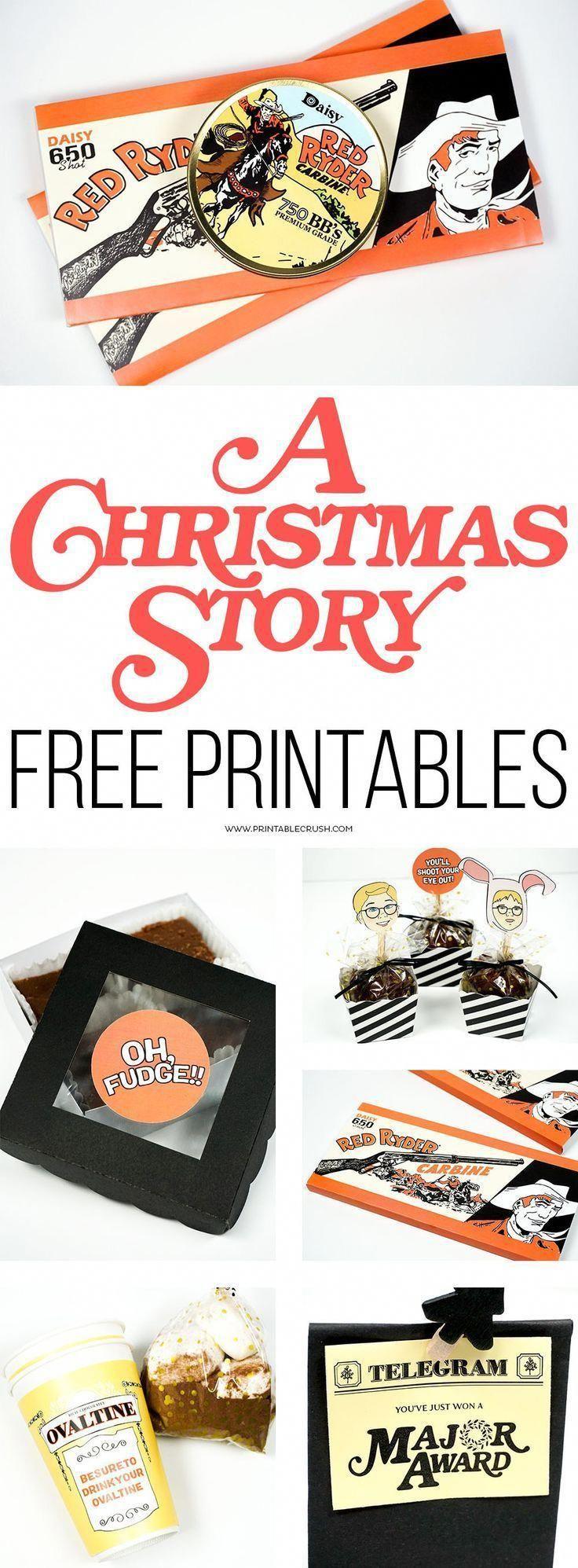 A Christmas Story FREE Printables #christmasmovies