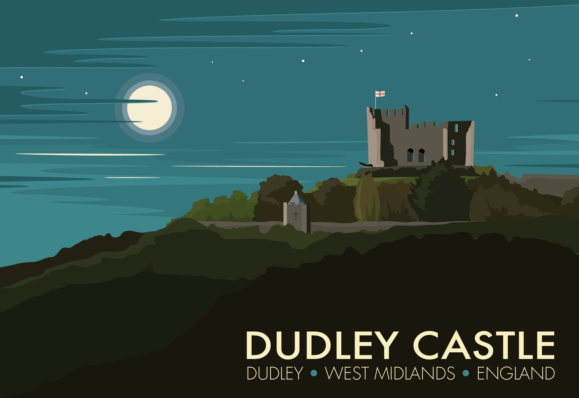 Dudley Castle Travel Poster Westley Art