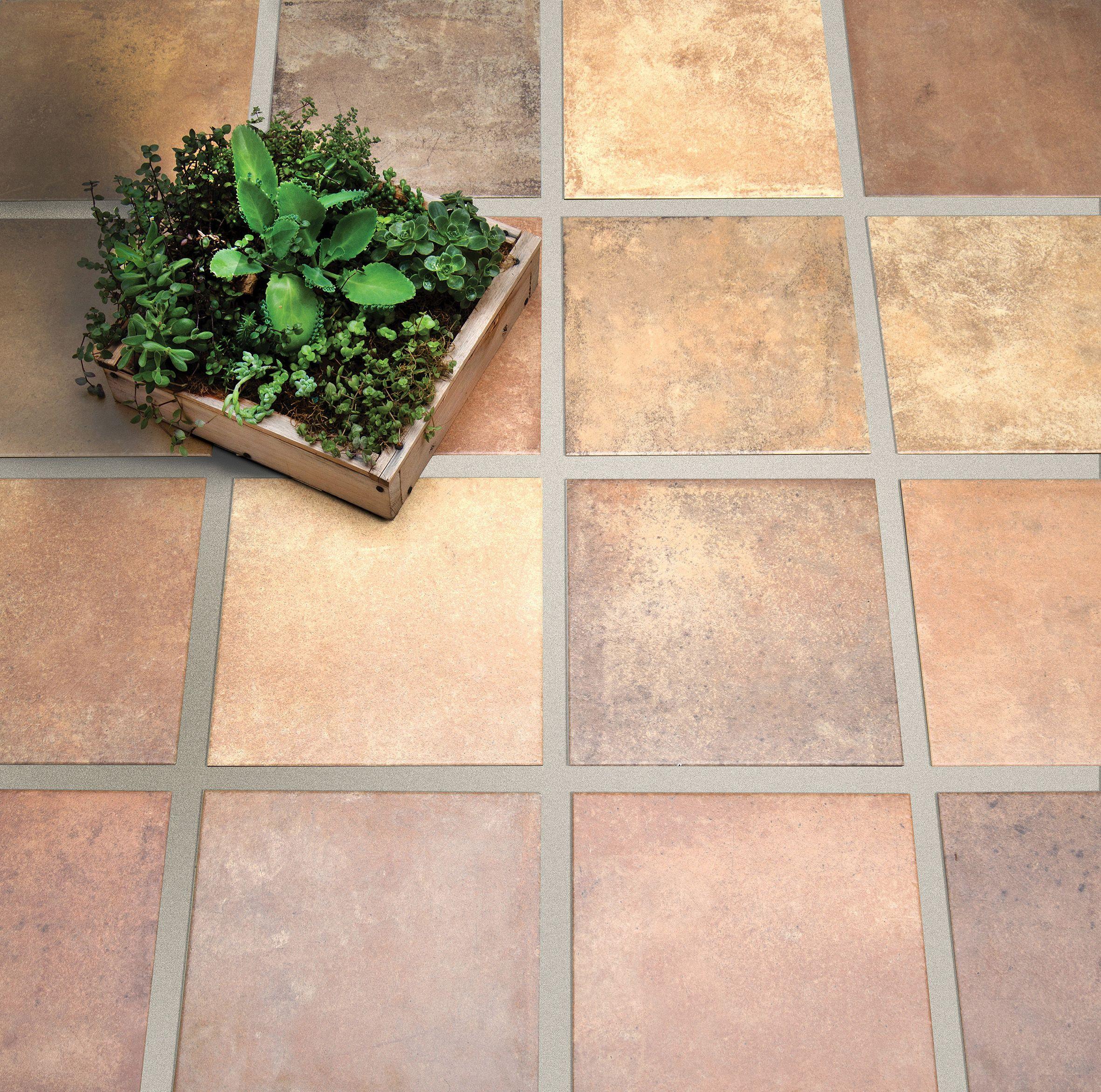 Terre mix ladrillo cer mica san lorenzo porcelanatos for Pisos antideslizantes para exteriores