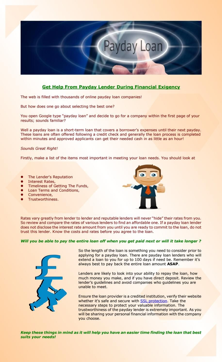 Get Help From Payday Lender Like The Quick Loan Shop Ltd During Financial Exigency Payday Loans Payday Loans Online Payday