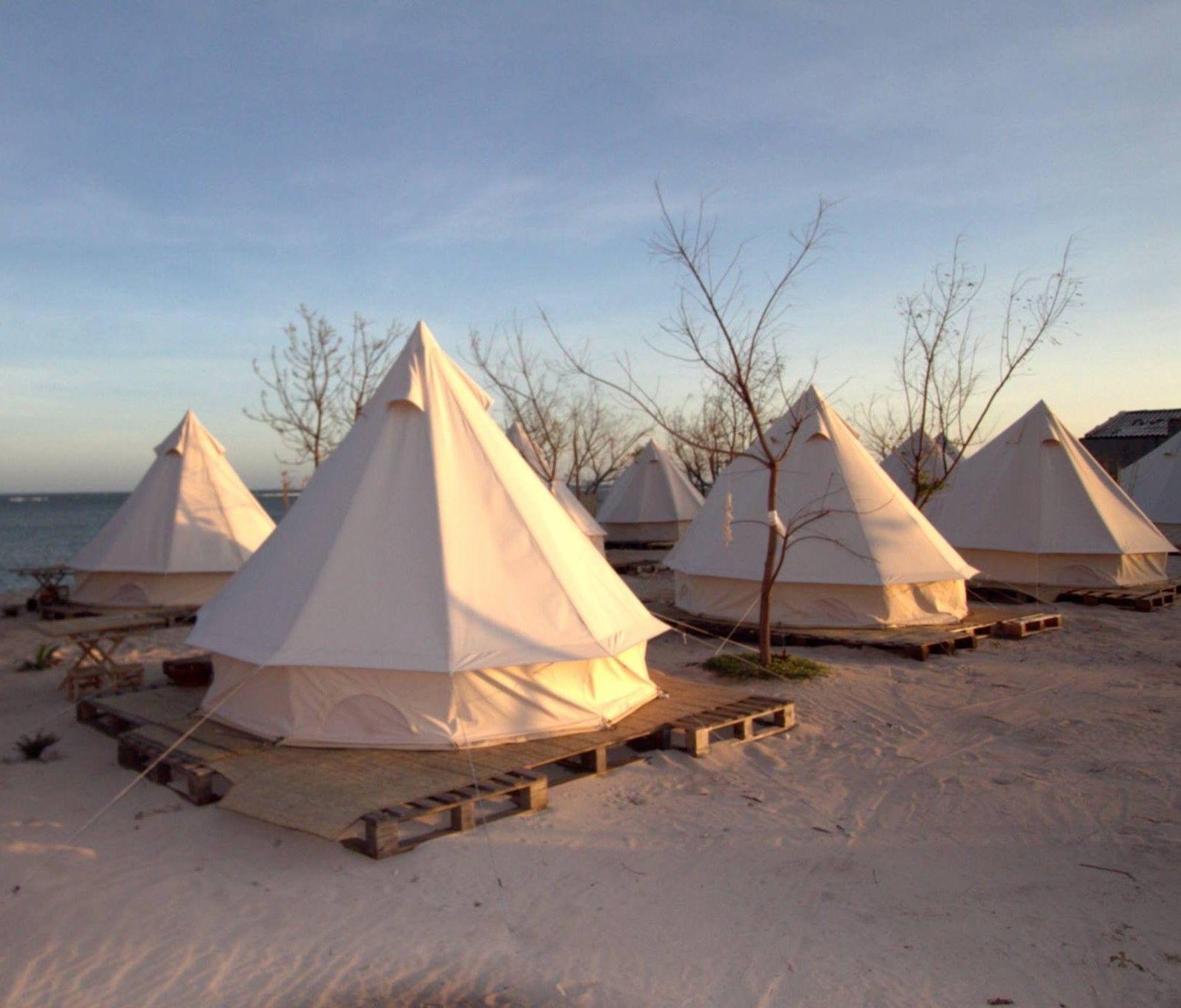4-Season Waterproof Cotton Canvas Large Family C& Bell Tent Hunting Wall Tents | eBay & 4-Season Waterproof Cotton Canvas Bell Tent Large Family Camp ...