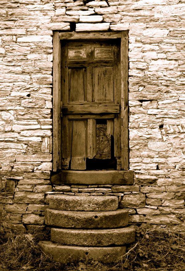 Old Door Photo Sepia Photography Print by RuralRetroDesigns. $8.00 USD, via Etsy.