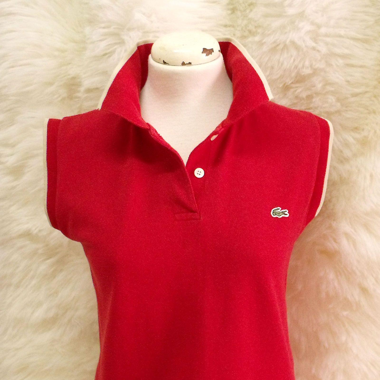 089779730 Retro LACOSTE authentic ladies polo shirt France