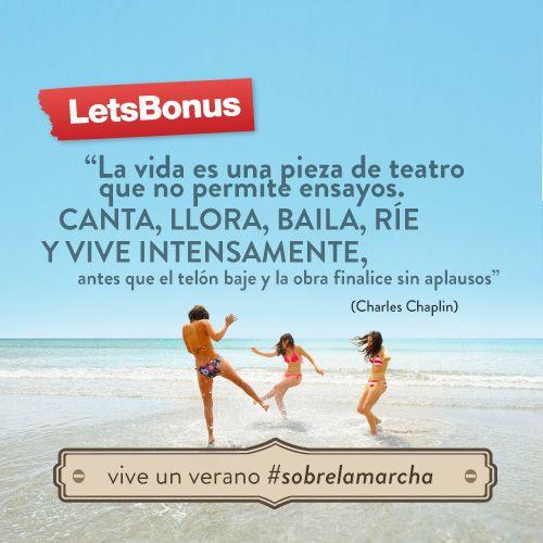 Un verano #sobrelamarcha. Día 22.  Una frase que nos inspira para seguir improvisando este verano... #Quotes #Live #Sobrelamarcha