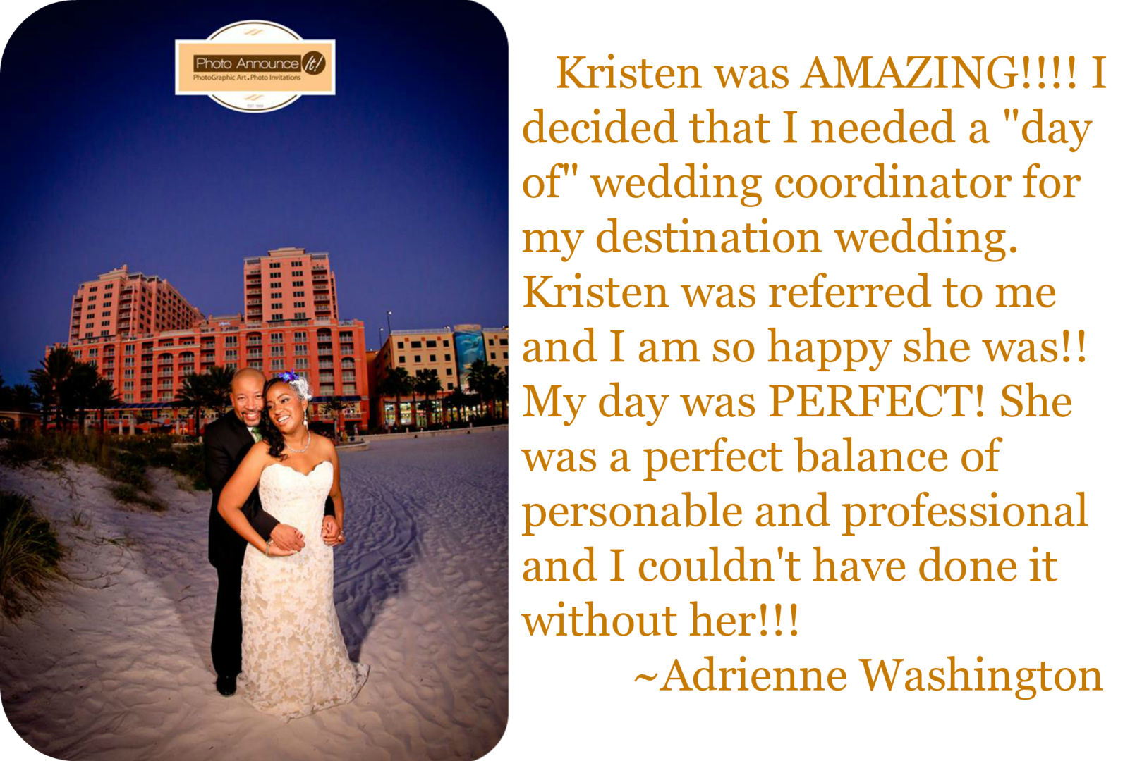 Flawless Fetes Review Clearwater Wedding Photo Announce It