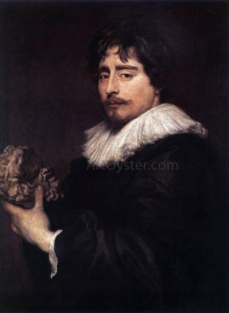 Portrait Of The Sculptor Duquesnoy By Sir Antony Van Dyck Hand Painted Oil Painting Anthony Van Dyck Sculptor Portraiture Painting