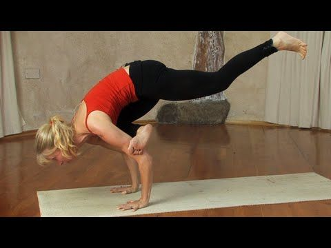 flying pigeon pose  yoga going to try this maybe with