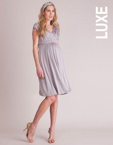 Dove Grey Grecian Maternity Dress | Seraphine
