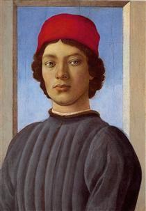 Portraitof a young manwith redcap - Sandro Botticelli