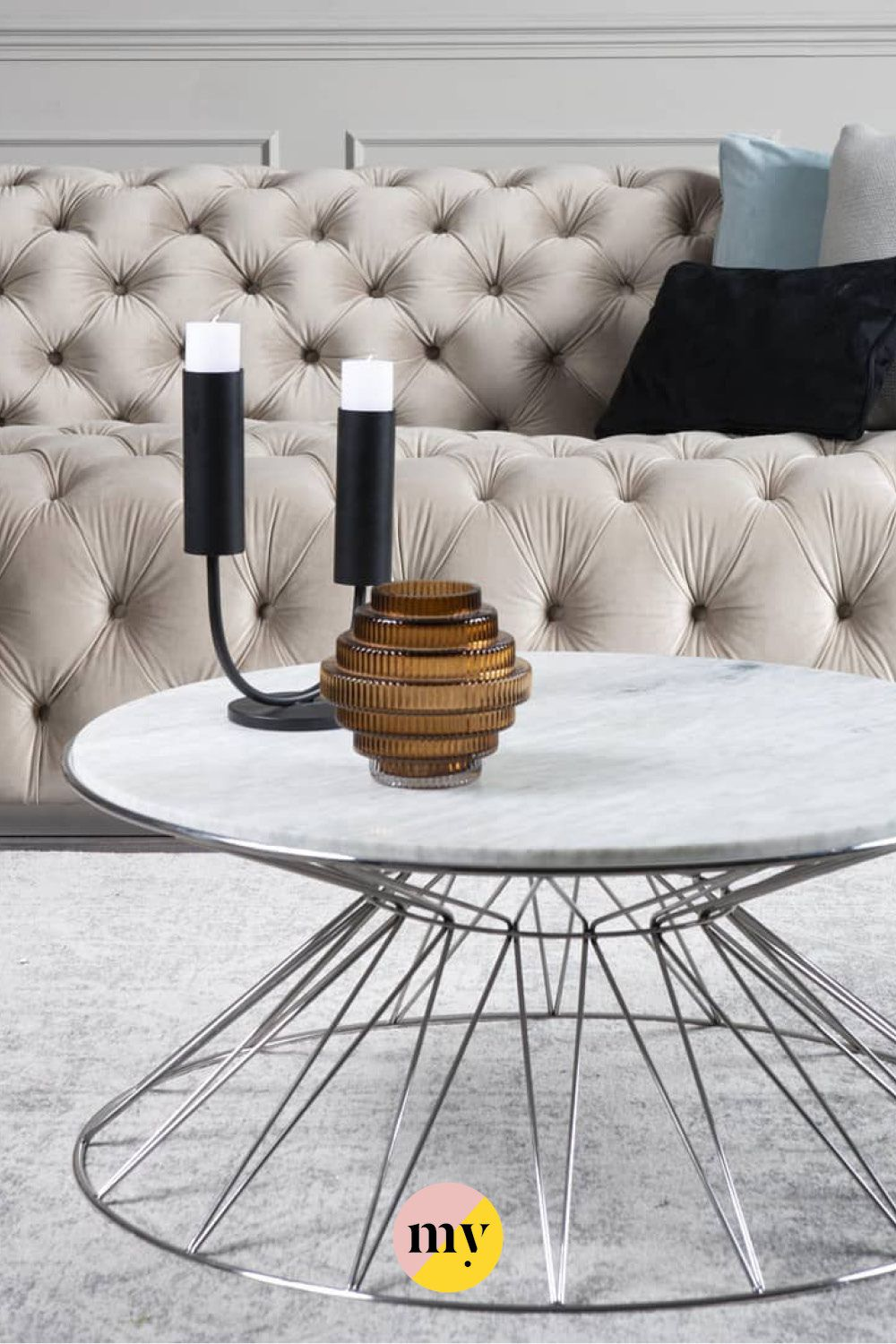 Mali Silver Coffee Table Coffee Table Table Contemporary Coffee Table